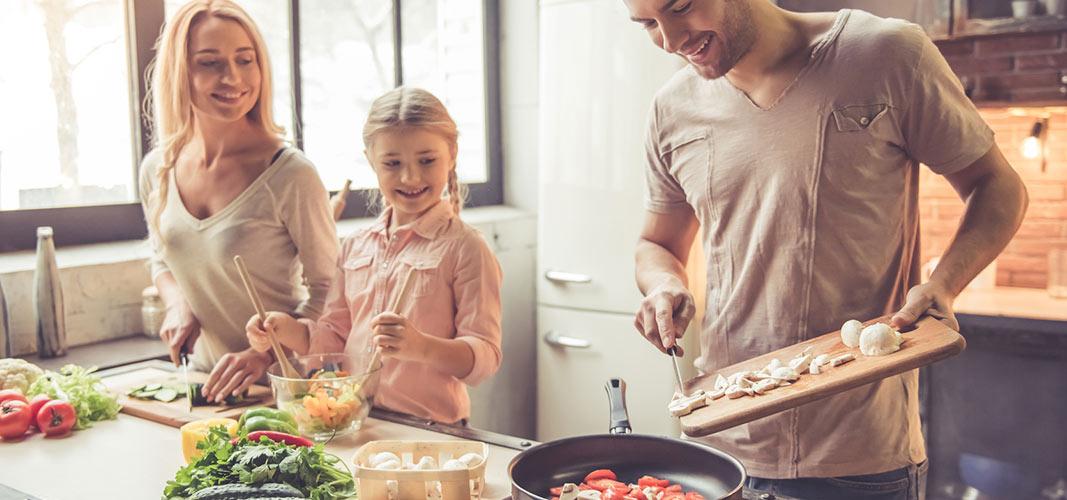 Kochen für die Familie.