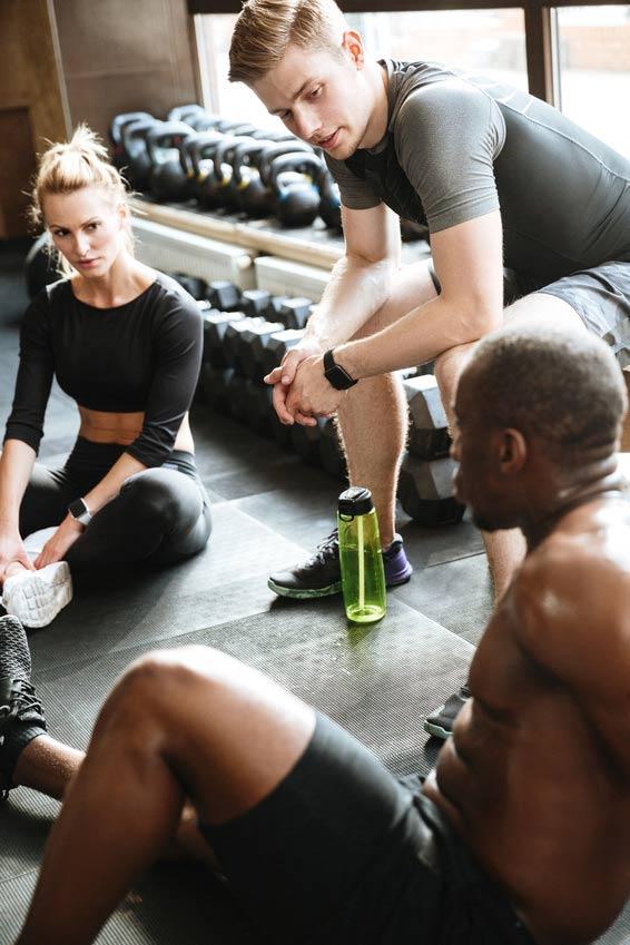 Gemeinsam sportlich sein.