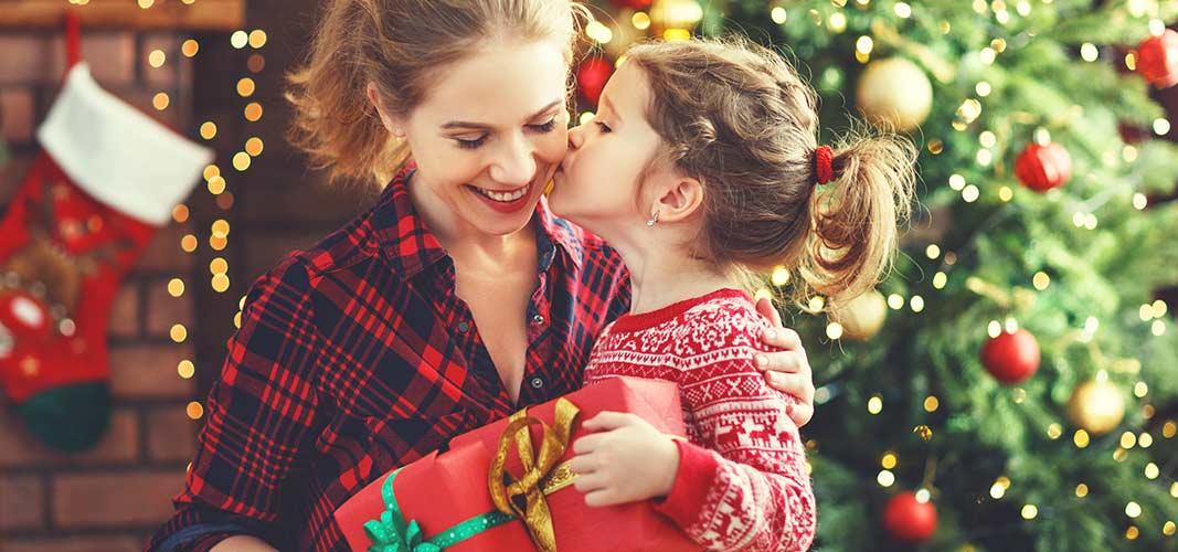 Ein Kuss von der Tochter.