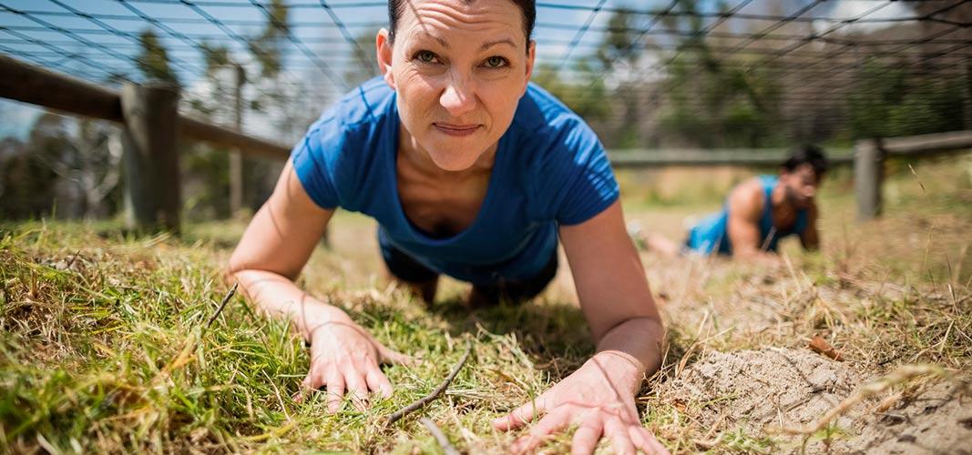 Nahezu jeder Muskel ist in Bewegung, vor allem die deines Oberkörpers.