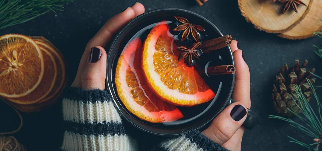 Greife ab und zu auch mal zum zu kalorienärmeren Alternativen wie Früchtepunsch, Tee oder Kaffee