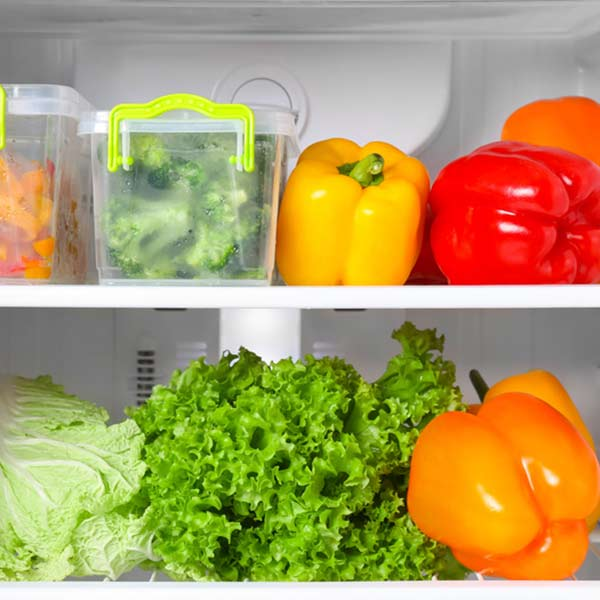 Obst und Gemüse richtig lagern.