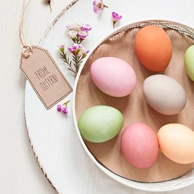Bunte Eier für Ostern.
