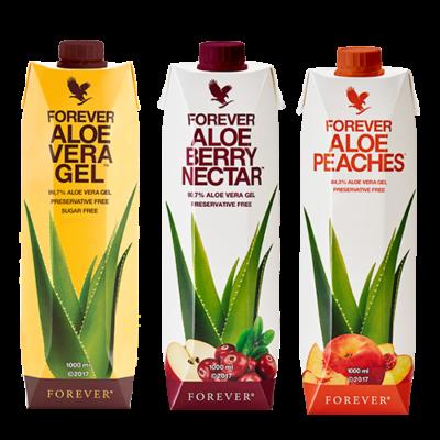 Drei wundervolle Aloe Drinks.